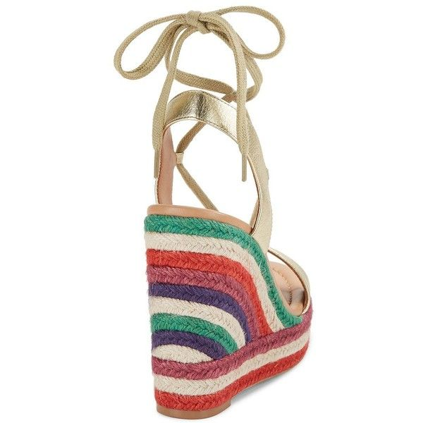 cf9deb06843f Kate Spade New York Daisy Too Leather Espadrille Wedge Sandals ( 188) ❤  liked on