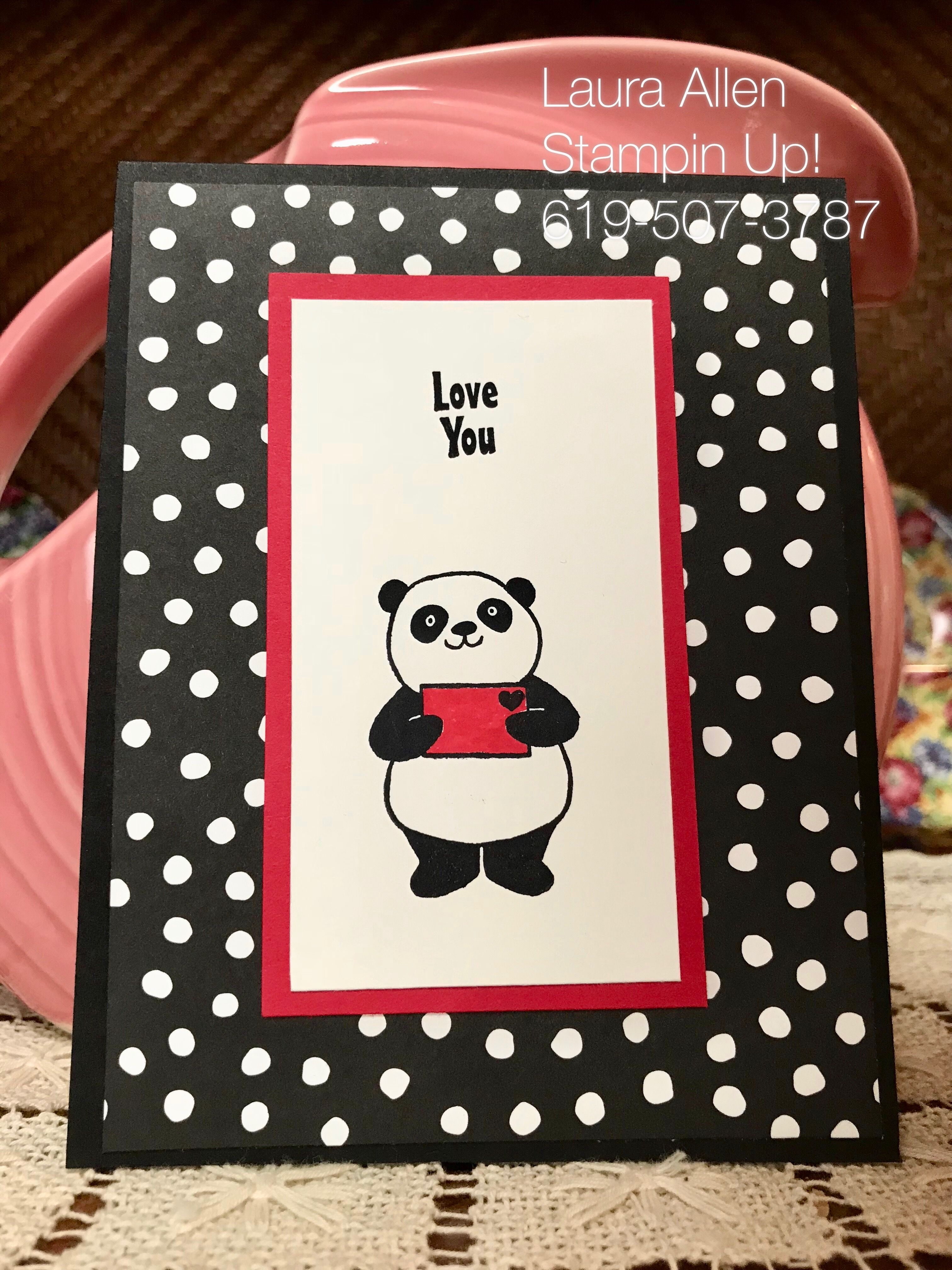 Party Pandas From The Stampin Up Sale A Bration Catalog January 3rd