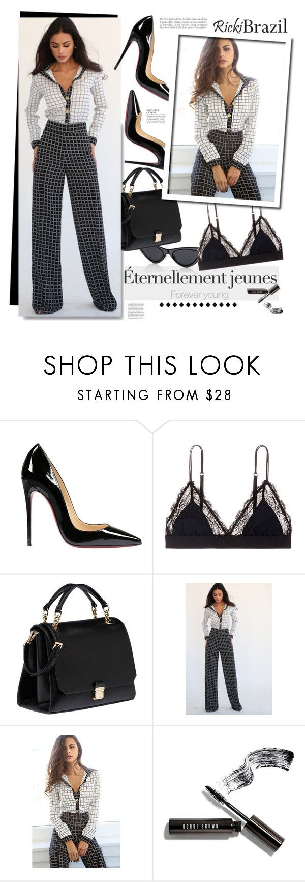 """""""Rickybrazil.com: Eternellement jeunes!"""" by hamaly ❤ liked on Polyvore featuring Dries Van Noten, Christian Louboutin, LoveStories, Miu Miu, Bobbi Brown Cosmetics, Anja, ootd, blouse, pants and rickibrazil"""