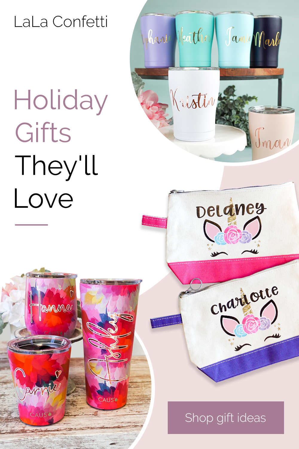 Holiday Gifts They Ll Love In 2020 Holiday Personalized Gifts Personalized Gifts For Her Christmas Gifts For Friends