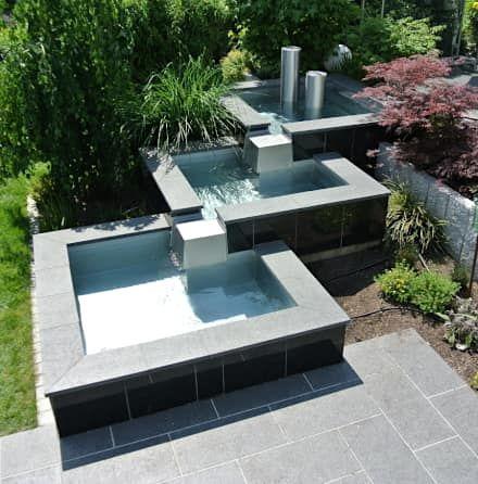 Garten, Gartengestaltung, Ideen und Bilder Moderne gärten - edelstahl teichbecken rechteckig