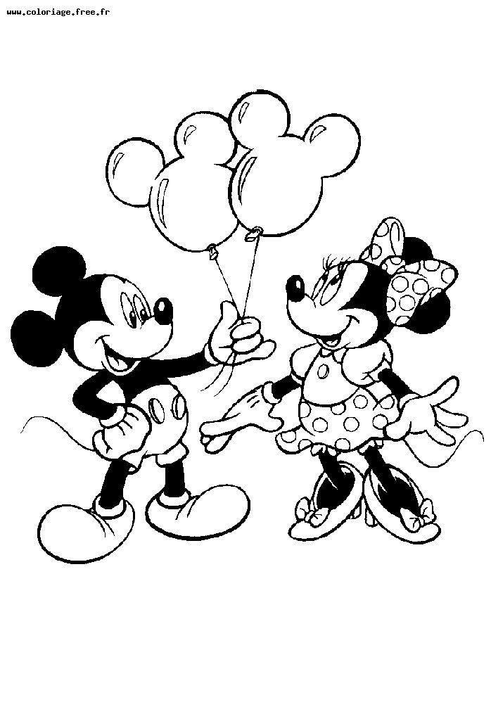 Mickey Pluto Coloriage Disney Minnie Mouse