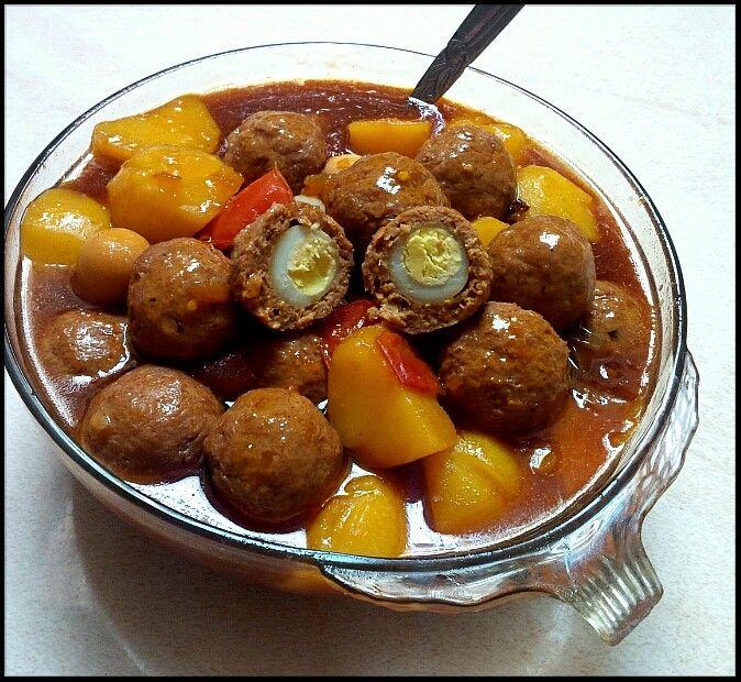 Done Semur Bola Bola Ayam Isi Telur Puyuh Yummy Indonesianfood Daging Cincang Resep Masakan Ayam Isi