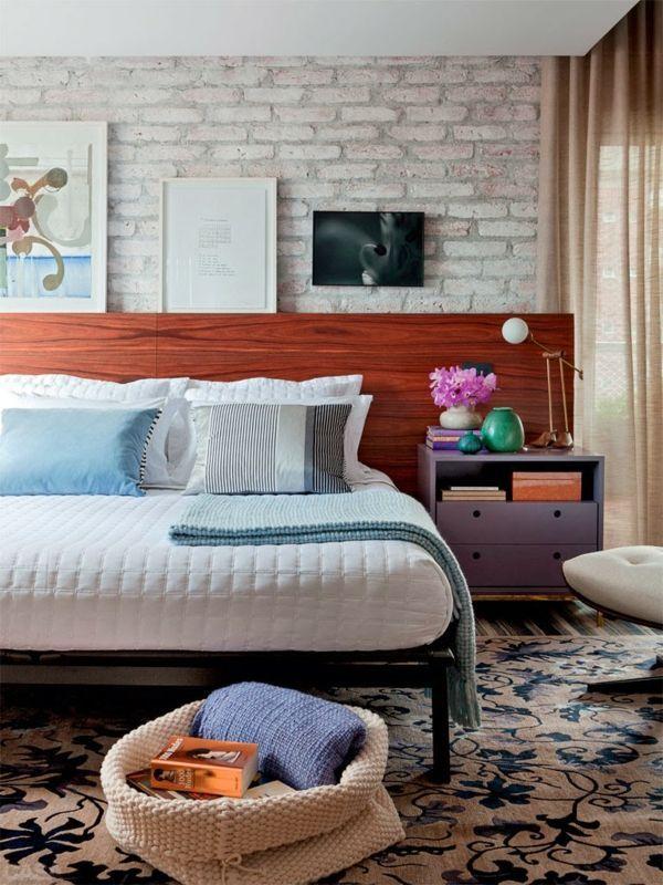 feng shui regeln schlafzimmer einrichten ziegelwand teppichboden - feng shui bilder schlafzimmer
