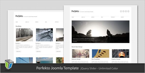 Perfekto Is A Simple Clean And Minimalist Joomla Template