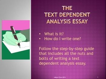 text dependent analysis essay prompts texts and students text dependent analysis essay