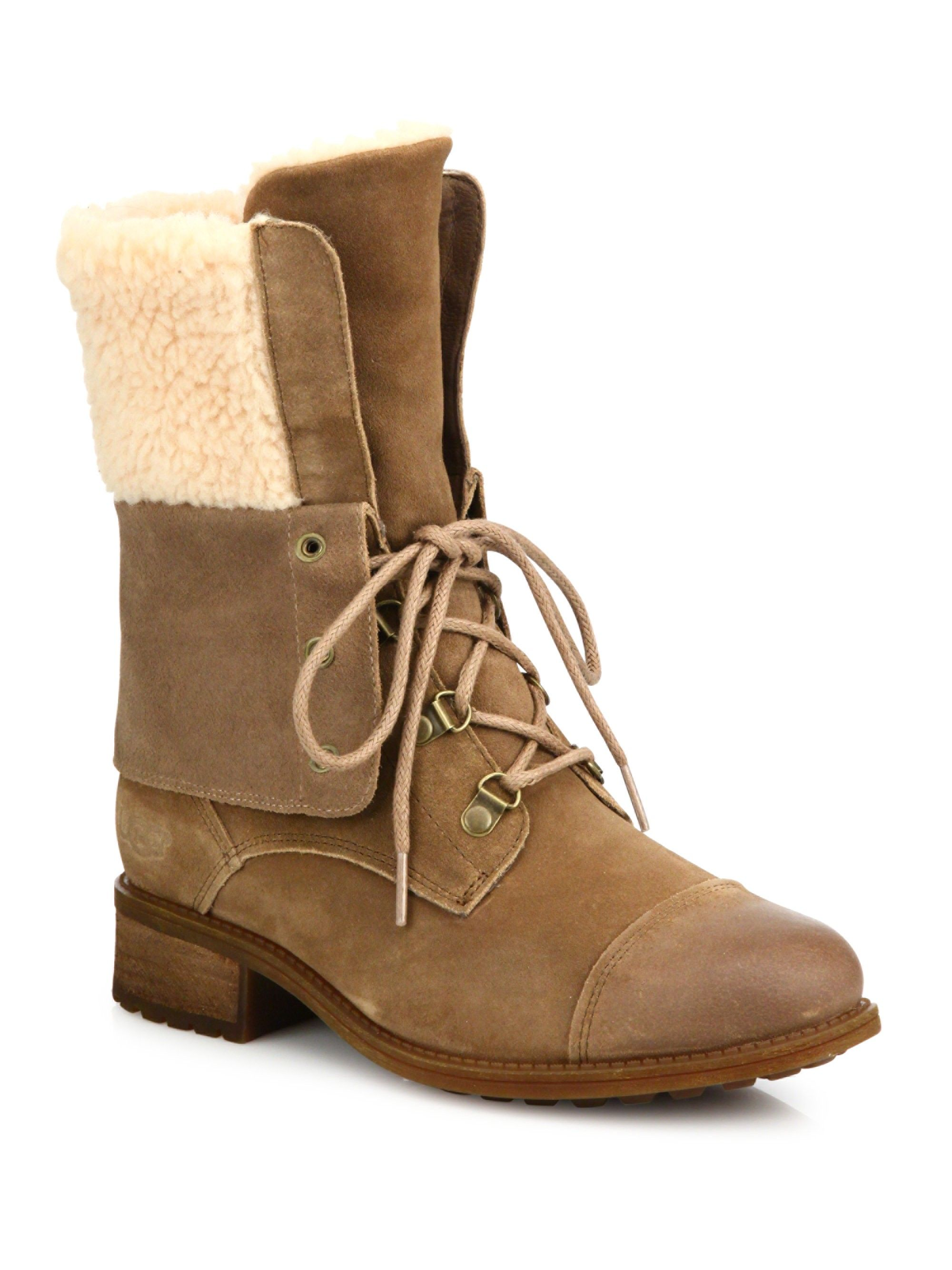 3da88973e62 Gradin Suede Lace-Up Boots by Ugg Australia | Products | Boots, Lace ...