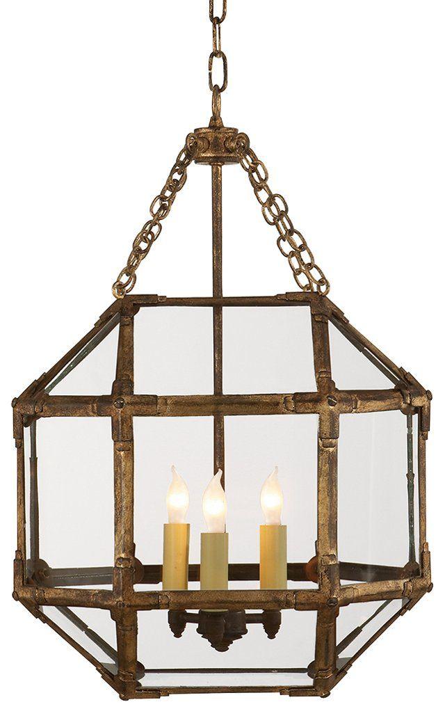 Unique Morris Small Lantern Gilded Iron Simple Elegant - small lantern pendant light Picture