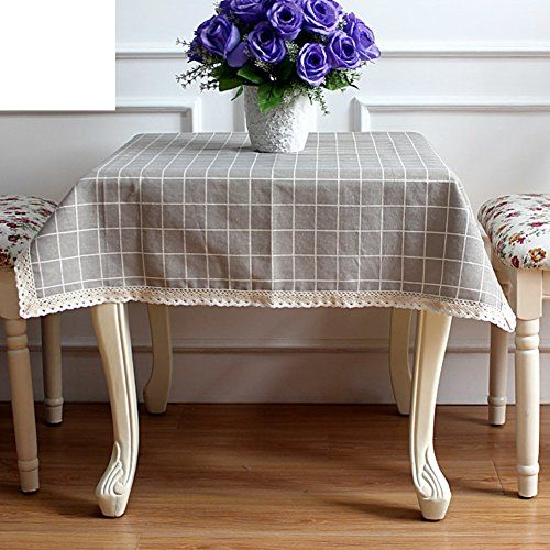 Cotton and linen table cloths Modern pastoral square tablecloth