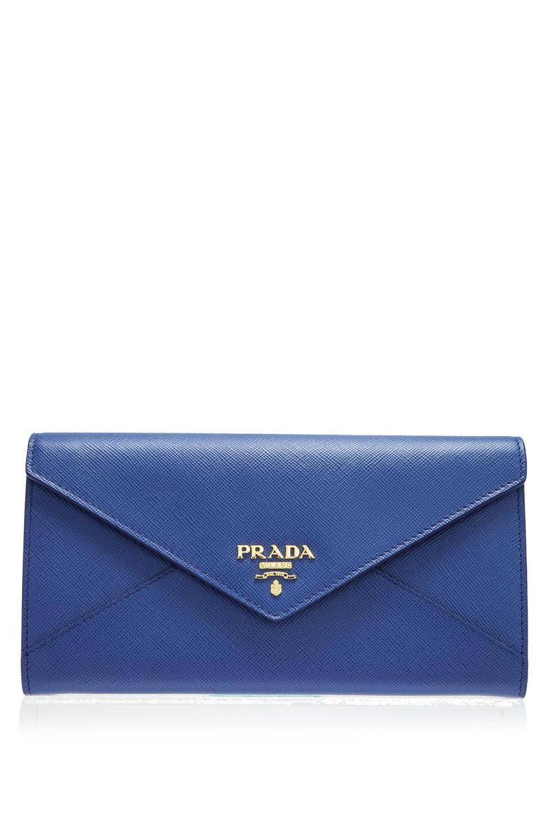 b99ad091b1e5 ... uk prada prada saffiano letter long flap wallet reebonz ac92c 3945b