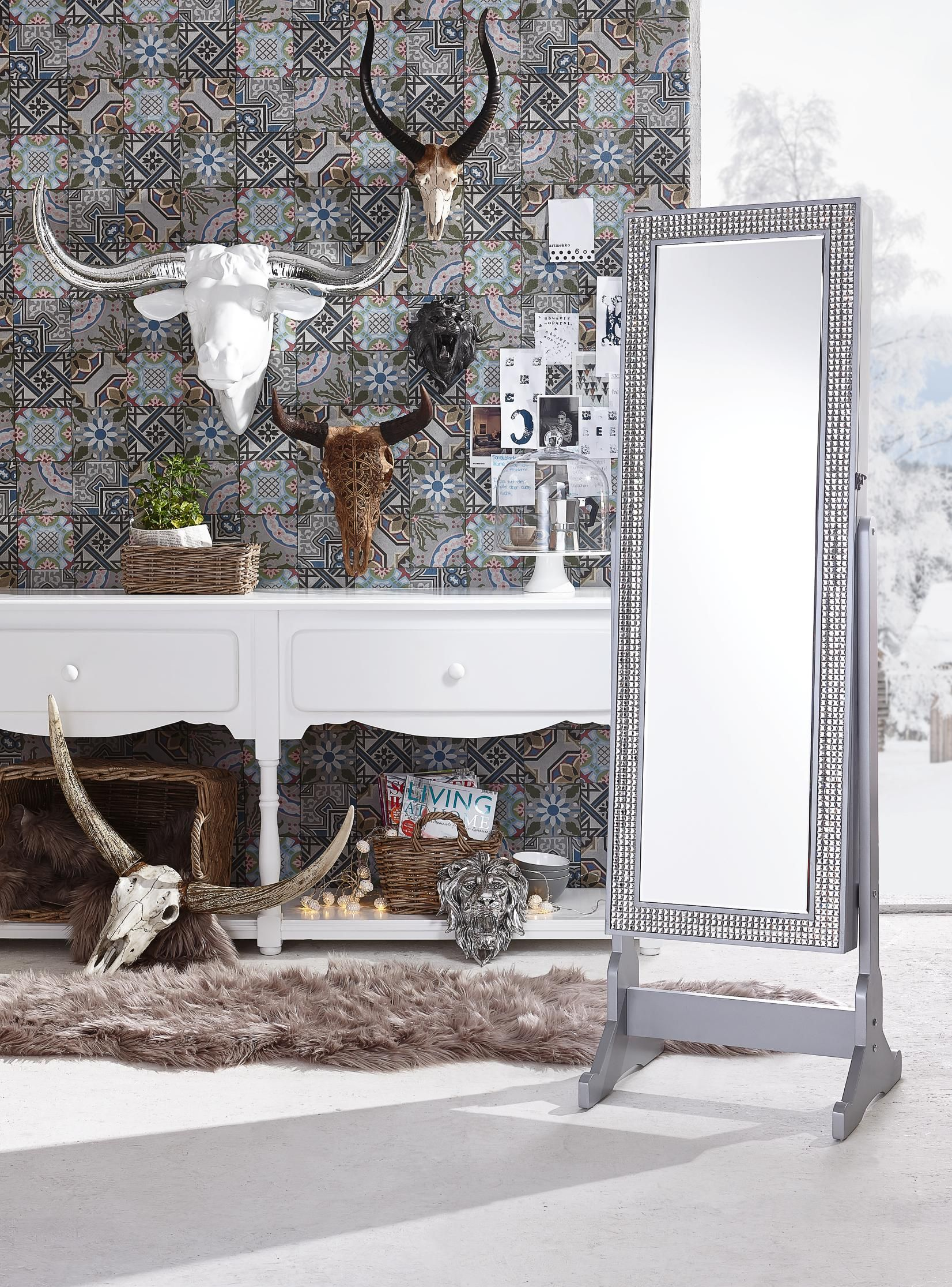 Wand Deko mit rustikalem Charme ein Stierkopf für Ihre Wände