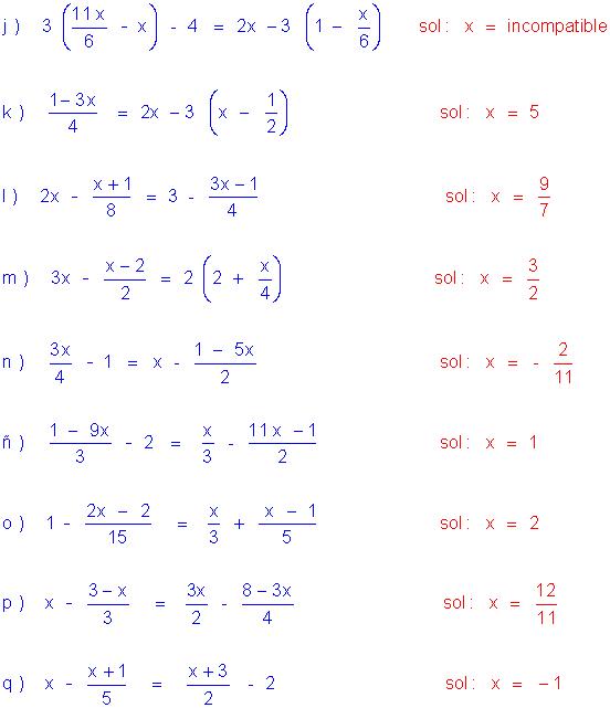 Ejercicios Resueltos De Ecuaciones De Primer Grado Ecuaciones Expresiones Algebraicas Primeros Grados