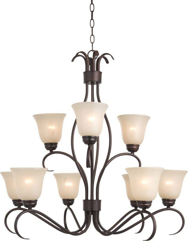 delacora dl 44768 basix 9 light double tier chandelier oil rubbed