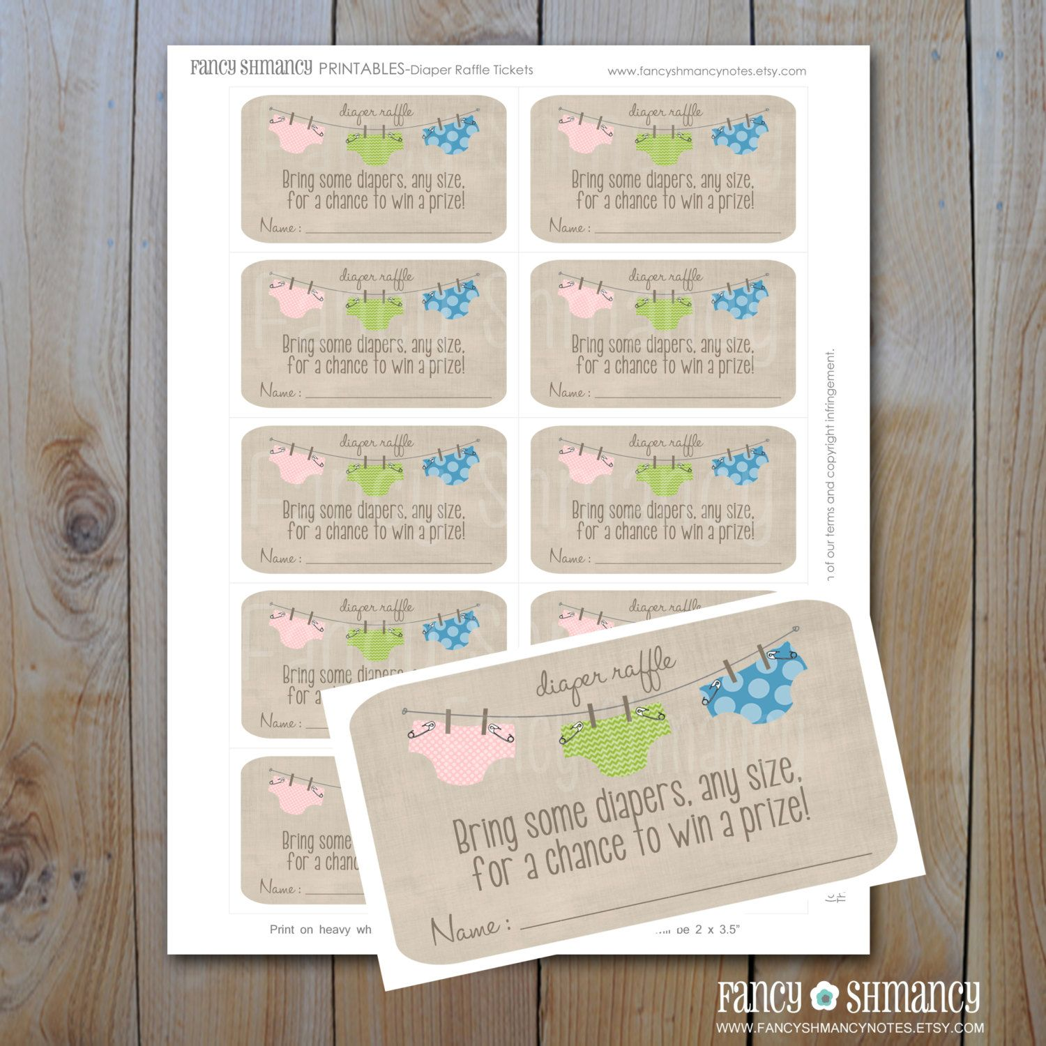 baby shower invitation wording for bringing diapers%0A Printable Baby Shower Invitation   Blue and Green Diapers   Boy Shower  Printable File