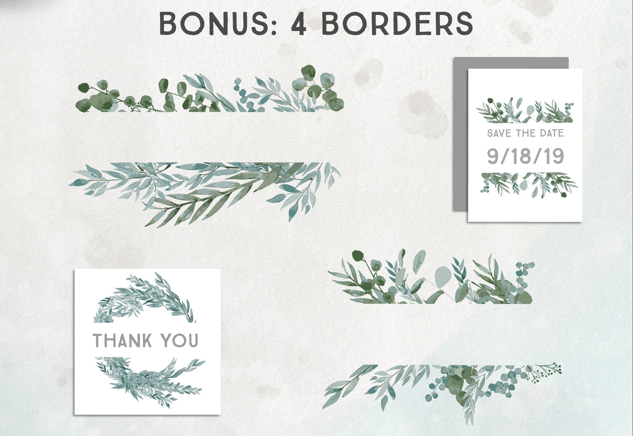 Photo of Eucalyptus Wreath Vector Graphics by Wooly Pronto on Creative Market