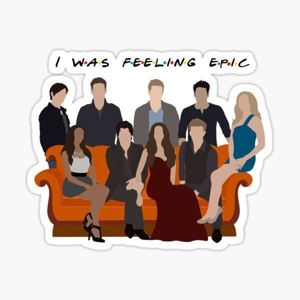 I Was Feeling Epic Salvatore Sticker Sticker by Rachel Morgan