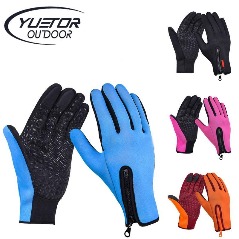 screen Winter Warm Cycling Bicycle Bike Ski Silica Waterproof Gloves Travel