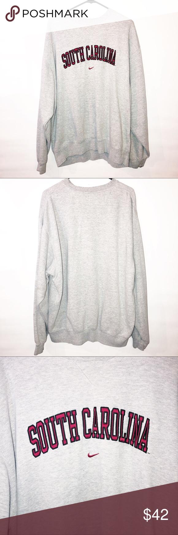 Nike Grey Red Sc Crewneck Sweatshirt Crew Neck Sweatshirt Sweatshirts Vintage Sweatshirt [ 1740 x 580 Pixel ]
