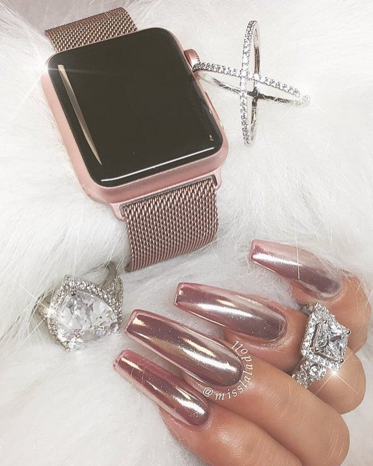#RoseGold Inspired By The Talented @customtnails1 Rings
