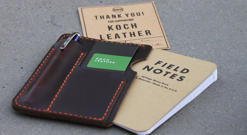 Koch-Leather-Field-Notes-Kickstarter-4 Wallets Pinterest - field note