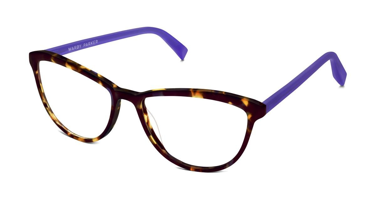 d5d7243872 A cat-eye frame with a delicate