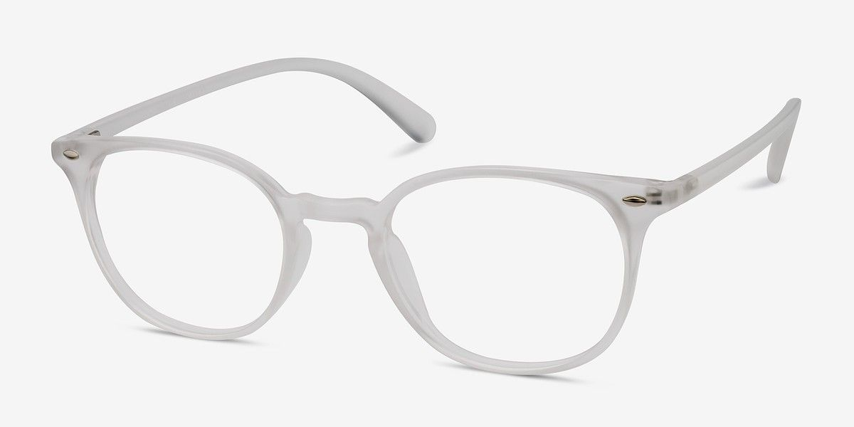 Hubris Clear Blue Plastic Eyeglasses from EyeBuyDirect. Come and ...