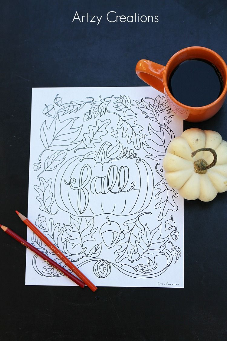 Free Fall Coloring Page - artzycreations.com | Kids coloring pages ...