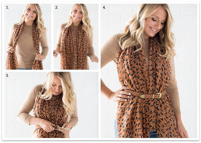 How to tie a scarf 10 great looks ThirtyOne