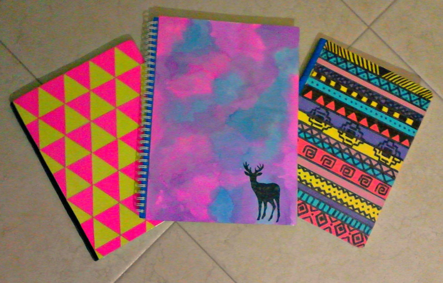 Portadas Para Cuadernos Decora Tus Libretas Con Dibujos: DIY DECORA TUS CUADERNOS -----FÁCIL Y BONITO