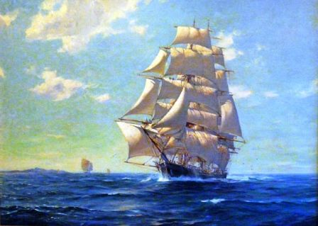 184 best Sea related art. images on Pinterest | Boats, Sailing ...