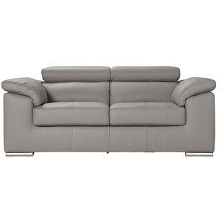 Buy Argos Home Valencia 2 Seater Leather Sofa Light Grey Sofas Gray Sofa Living Room 2017 Sofa