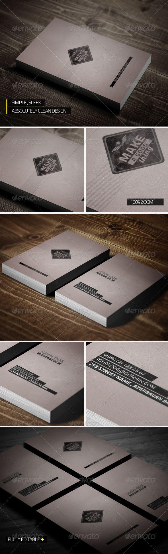 Unique Clean Business Card Business Cards