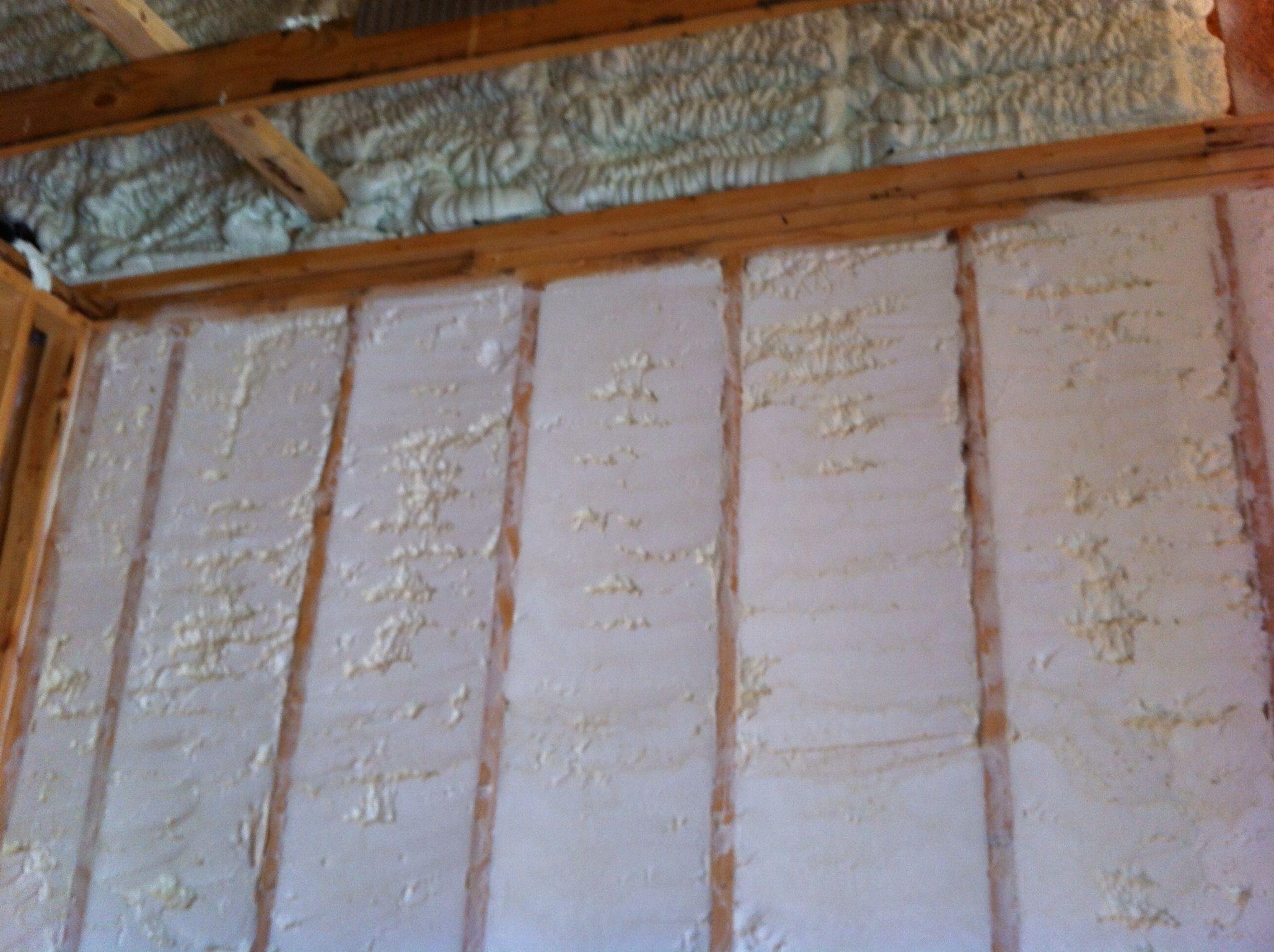 Spray foam insulation open cell vs closed cell - Open Cell Spray Foam Insulation On The Exterior Walls And Closed Cell Spray Foam In The