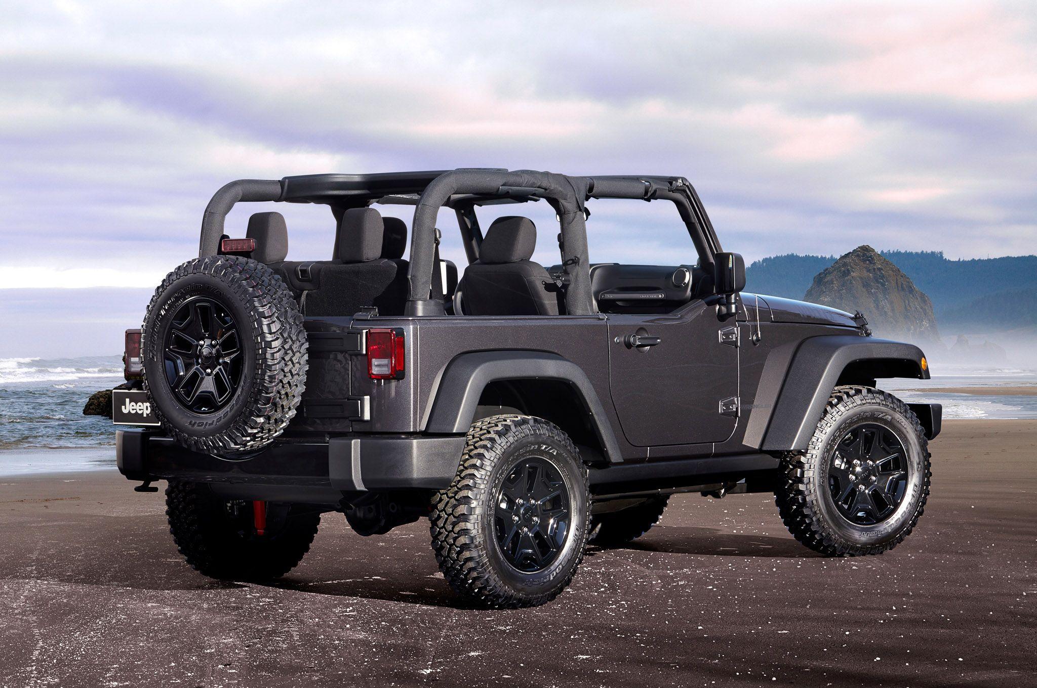 2014 Jeep Willys Wheeler Edition rear three quarters shot