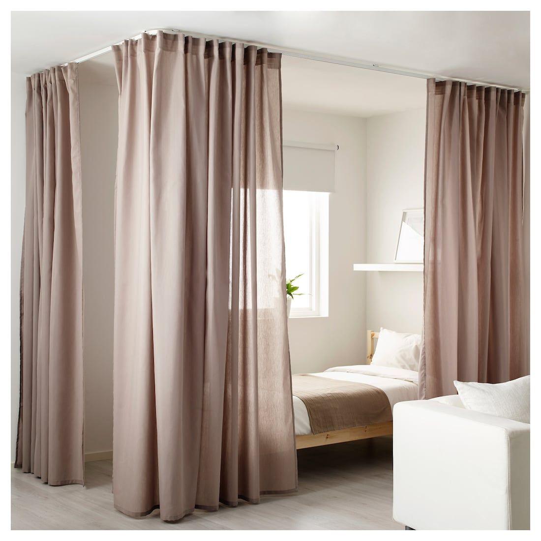 Ikea Vidga White Corner Room Divider Room Divider Curtain Small