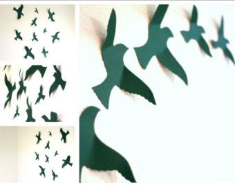 3d Bird wall Art Black wall art Paper birds by MyDreamDecors  sc 1 st  Pinterest & 3d Bird wall Art Black wall art Paper birds by MyDreamDecors ...
