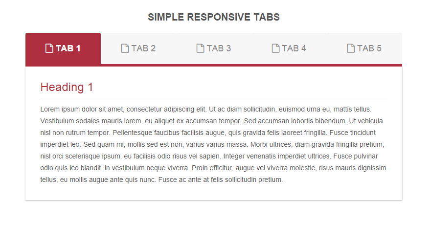 Create Simple and Quick Responsive Tabs #responsive #tabs
