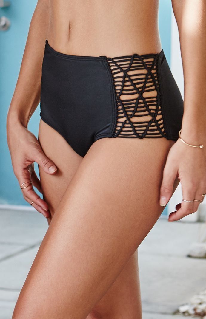 LA Hearts Macrame Inset High Waisted Bikini Bottom at PacSun.com ... 7420d3388