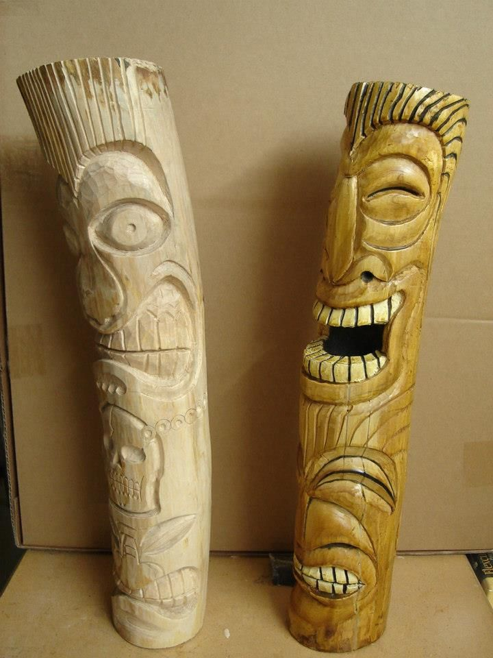 Tiki 1 Amp 2 Wood Carving Patterns Wood Carving Awesome