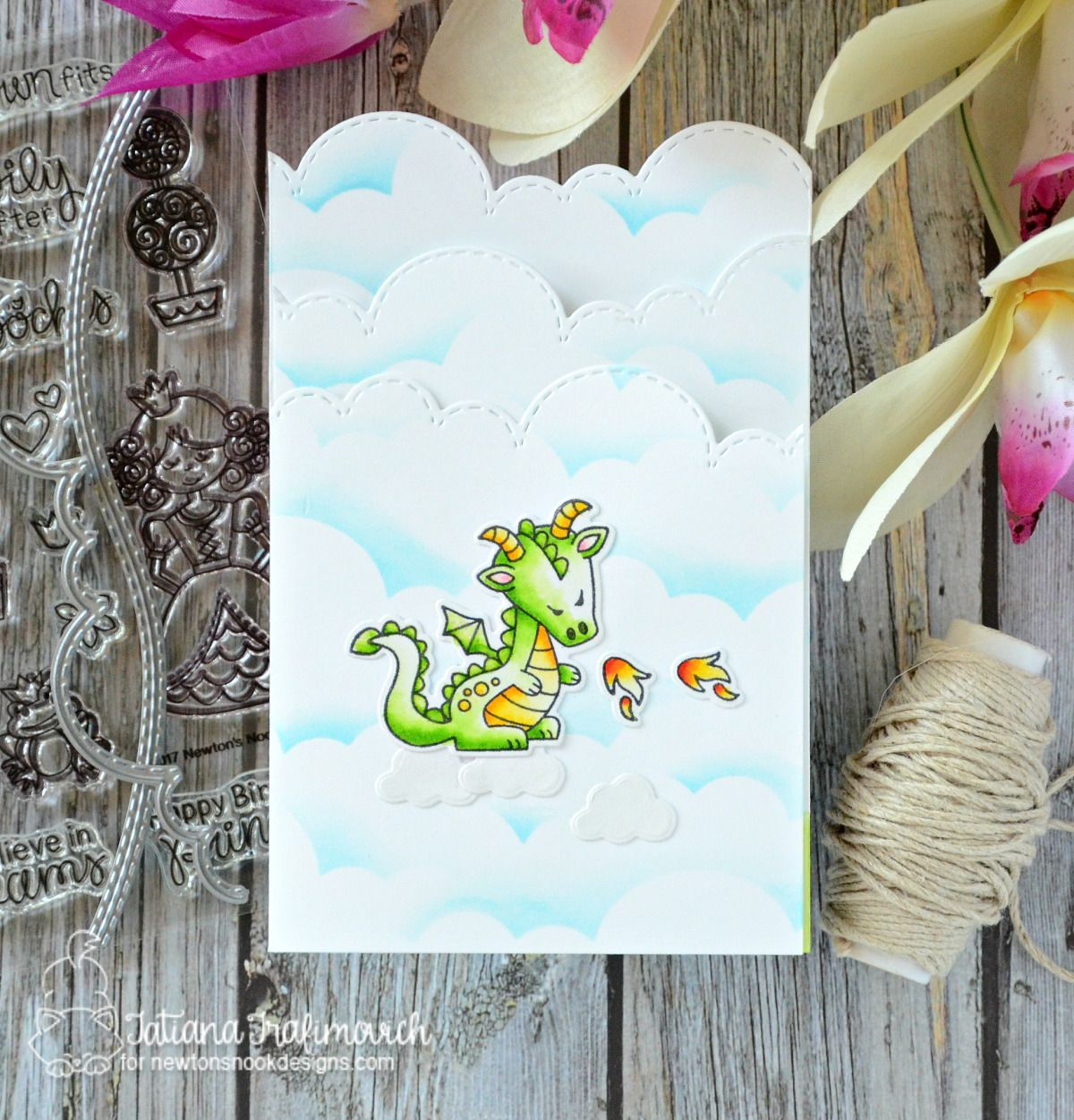 Shaped Trifold Card Ft Newton S Nook Designs Fun Projects