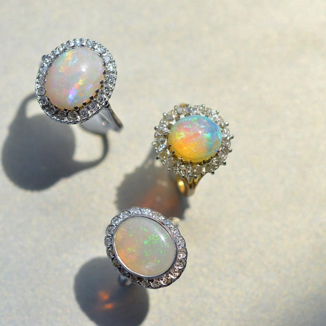 Romance in opal. #BrilliantEarth #engagementring #diamonds #vintage #tbt