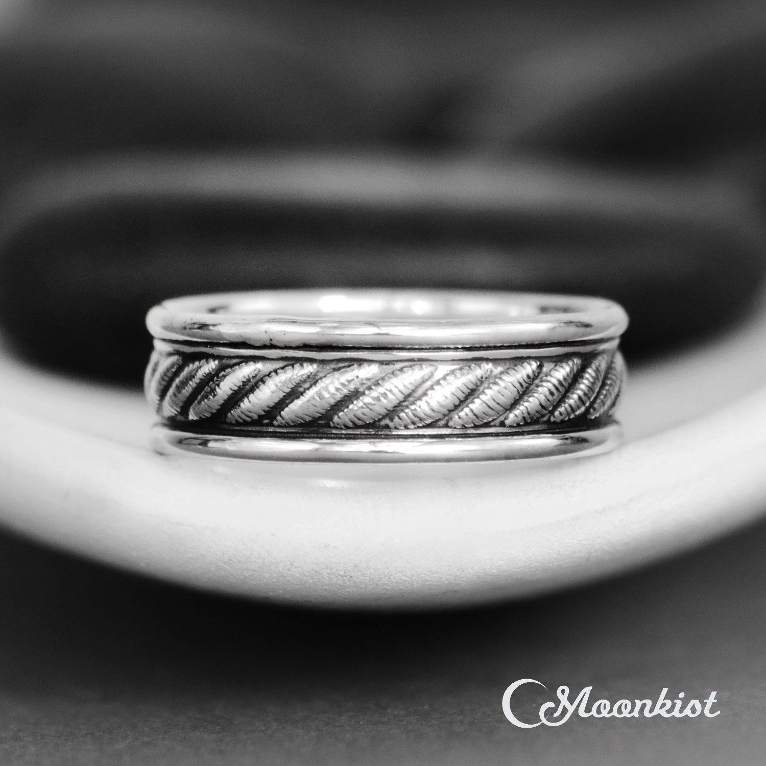 Rope Braid Wedding Band Sterling Silver Rope Wedding Ring Silver Wedding Bands Twist Wedding Band Braided Ring Band