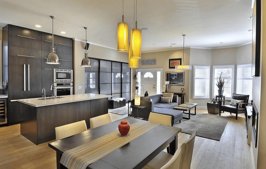 Open Concept Inside Modern House 60 Open Floor House Plans Open Plan Kitchen Dining Living Open Plan Kitchen