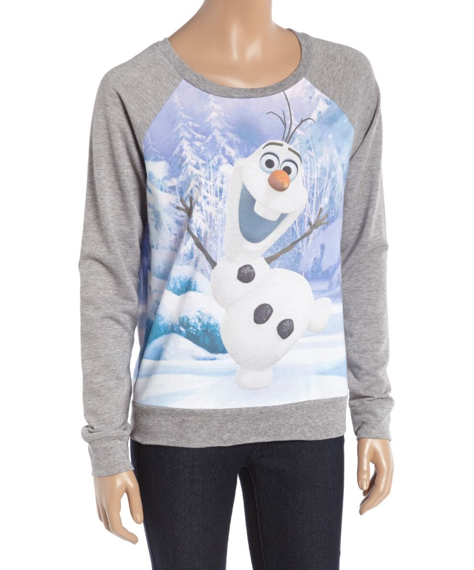 Look What I Found On Zulily Gray Olaf Pullover Women By Frozen Zulilyfinds Women Pullover Pullover Bra Tops [ 1152 x 959 Pixel ]