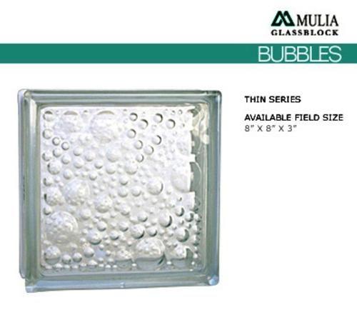 8 X 8 X 3 Bubbles Glass Block 1 Each At Menards Glass Blocks Bubble Glass Pattern Glass
