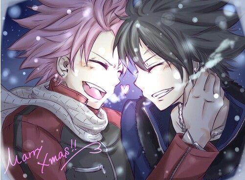 natsu and gray i dont ship but this is to cute not to pin