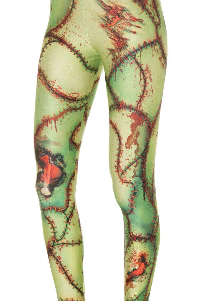 Frankenstein's Monster Leggings (WW $75AUD / US $70USD) by Black Milk Clothing