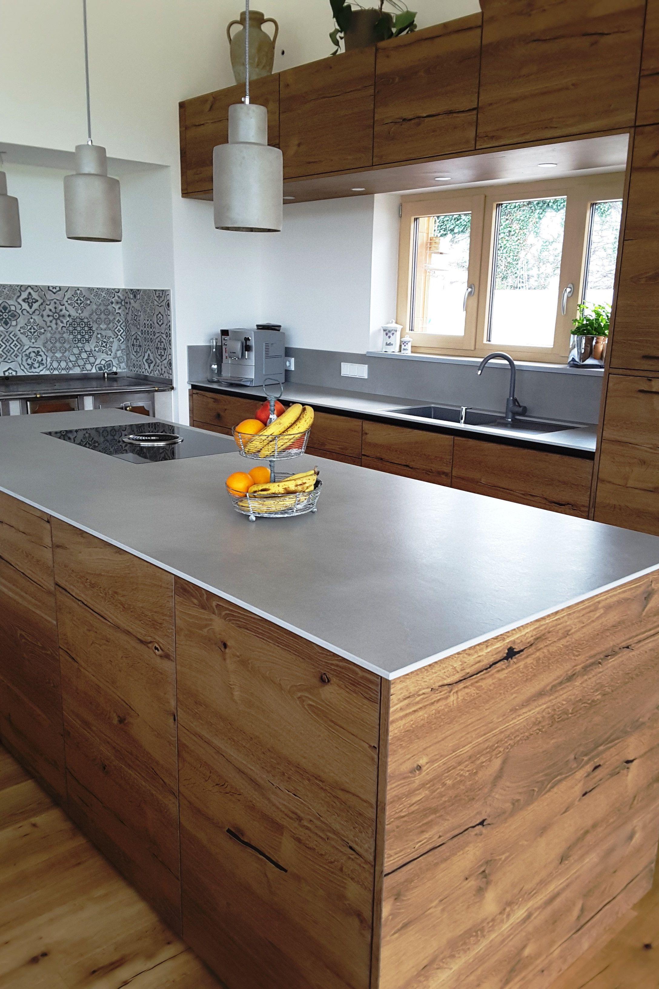 Kuche Im Stil Alteiche Barrique Kuche Holz Modern Kuchen Design Wohnung Kuche