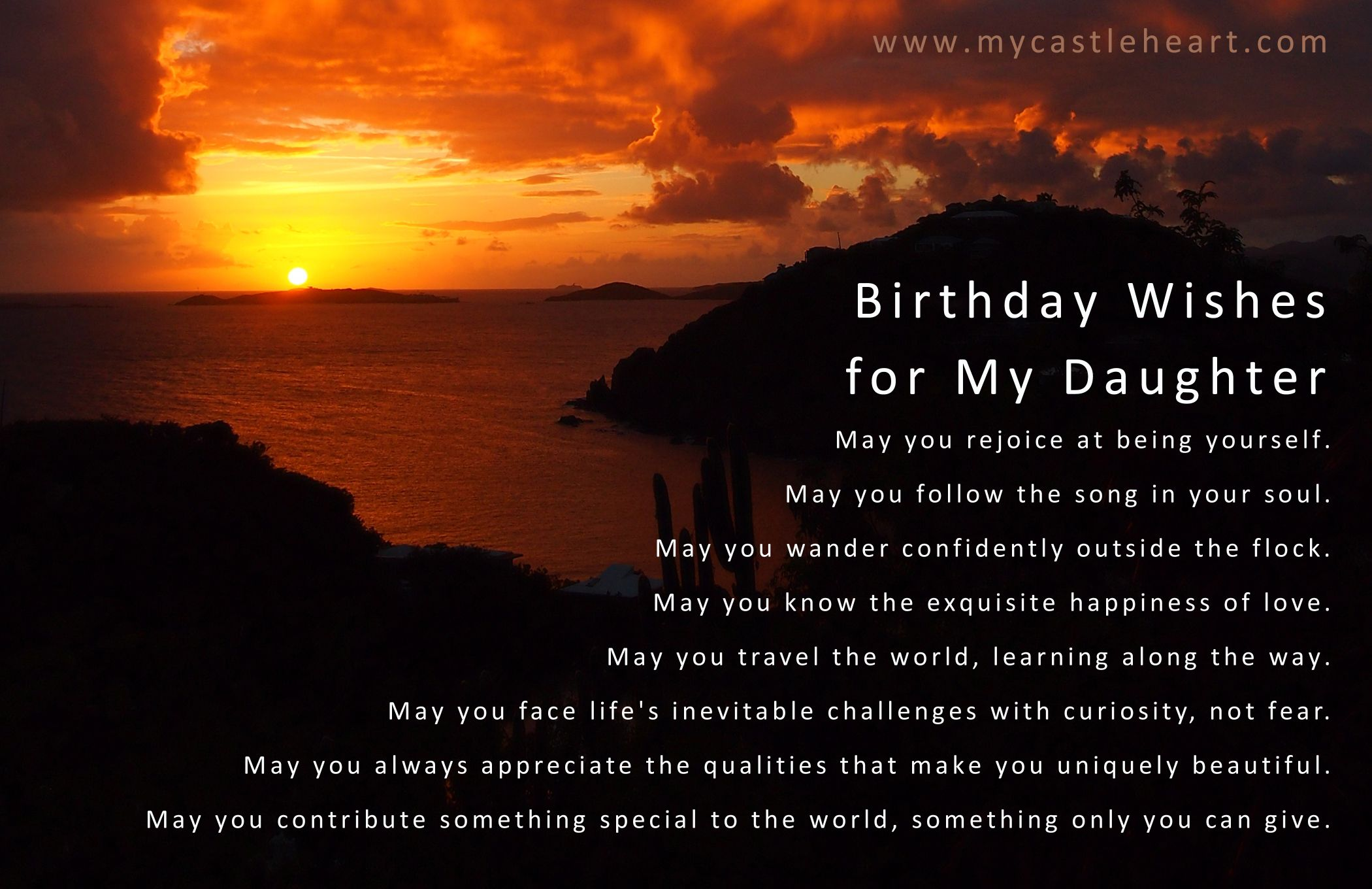 Birthday Wishes for My Daughter Get outside