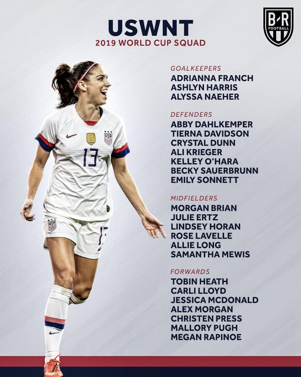 Alex Morgan 2019 Uswnt World Cup Team Usa Soccer Women Uswnt Women S Soccer Team